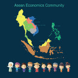 Формат eps 10 общины экономики АСЕАН (AEC) Стоковое фото RF