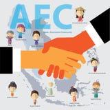Формат eps 10 общины экономики АСЕАН (AEC) Стоковые Изображения