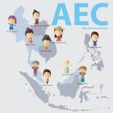 Формат eps 10 общины экономики АСЕАН (AEC) Стоковое Фото