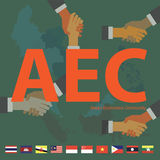 Формат eps10 общины экономики АСЕАН (AEC) Стоковые Фотографии RF