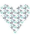 Форма бабочки сердца сини и teal Стоковые Изображения RF