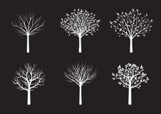 Форма белых деревьев также вектор иллюстрации притяжки corel Стоковые Фотографии RF