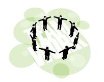 форма бизнесменов вручает кольцо удерживания обеспеченное Стоковая Фотография