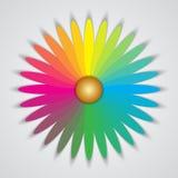 Форма вектора изолированная конспектом флористическая multicolor иллюстрация вектора