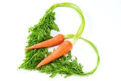 форма влюбленности моркови Стоковые Фотографии RF