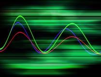 Форма волны 19 иллюстрация вектора