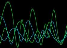 Форма волны 2 иллюстрация вектора