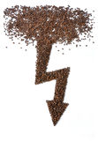 форма вспышки кофе фасолей Стоковое Изображение RF