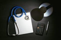 Форма вычисления цены медицинского лечения стоковые изображения
