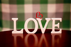 Форма влюбленности дня валентинки Стоковая Фотография