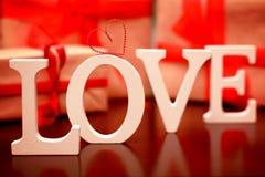 Форма влюбленности дня валентинки Стоковое фото RF