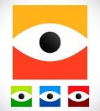 Форма глаза над квадратом - наблюдайте значок, логотип глаза бесплатная иллюстрация