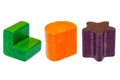 Форма деревянных форм геометрическая Стоковое Изображение RF