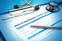 Форма заявки медицинской страховки Стоковые Фотографии RF