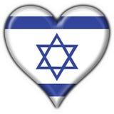 форма Израиля сердца флага кнопки Стоковое Фото