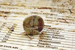 Форма истории здоровья Стоковая Фотография RF