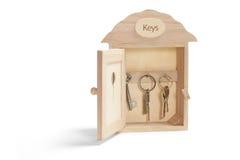 форма ключа дома коробки Стоковая Фотография RF