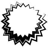 Форма контура с различным эффектом искажения Абстрактное geometr иллюстрация вектора