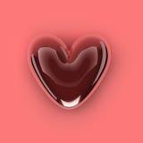 форма красного цвета изображения сердца 3d Стоковые Фотографии RF