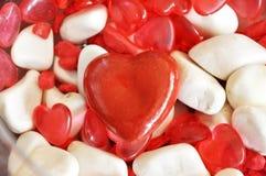 форма красного цвета сердца Стоковое Изображение RF