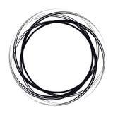 Форма круга вектора абстрактная Черная округлая форма иллюстрация вектора