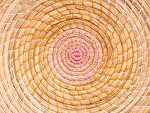 Форма круга естественной циновки плиты стоковое изображение rf