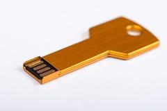 Форма ключа флэш-память Usb Стоковые Фотографии RF