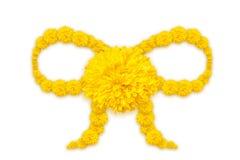 Форма ленты цветков ноготк или calendula Стоковая Фотография