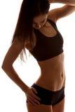 Форма мышечного тела построителя женского тела Стоковое Изображение