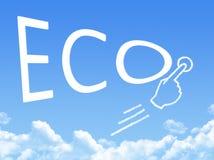 Форма облака сообщения ECO иллюстрация вектора