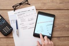 Форма обязанностей счета за газ бумажная Стоковая Фотография RF