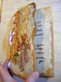 Форма печениь имбиря открытой карточки Стоковое Изображение