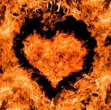 форма померанца сердца пожара Стоковая Фотография