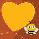 Форма пчелы и сердца летания. Стоковые Фото