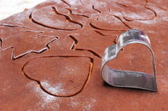 Форма резцов и теста печенья для пряника Стоковые Фотографии RF