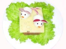 форма сандвича животного сыра творческая Стоковое Изображение