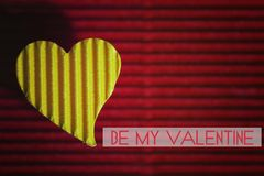 Форма сердца валентинки бумажная Стоковое Фото