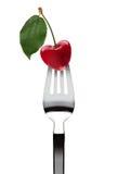 форма сердца вилки вишни Стоковые Фотографии RF