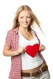форма сердца девушки Стоковое фото RF