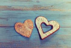 Форма сердца делает коры дерева Стоковое Фото