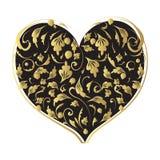 форма сердца конструкции флористическая ваша Стоковое Изображение