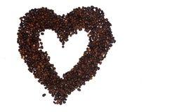 форма сердца кофе фасолей Стоковое Изображение RF
