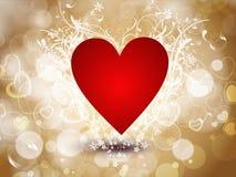 форма сердца красная сверкная Стоковое Изображение RF