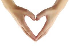 форма сердца перста Стоковое фото RF
