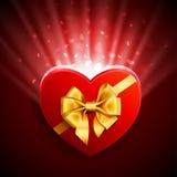форма сердца подарка Стоковая Фотография