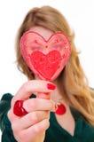 Форма сердца подарка Стоковое Изображение RF