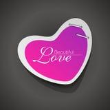 форма сердца розовая сверкная Стоковая Фотография