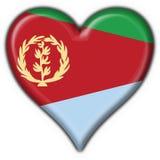 форма сердца флага eritrea кнопки иллюстрация штока
