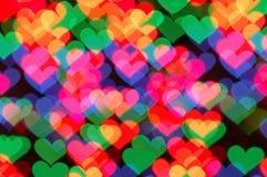 форма сердца bokeh Стоковое Изображение RF