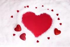 Форма сердца Snowy Стоковое Фото